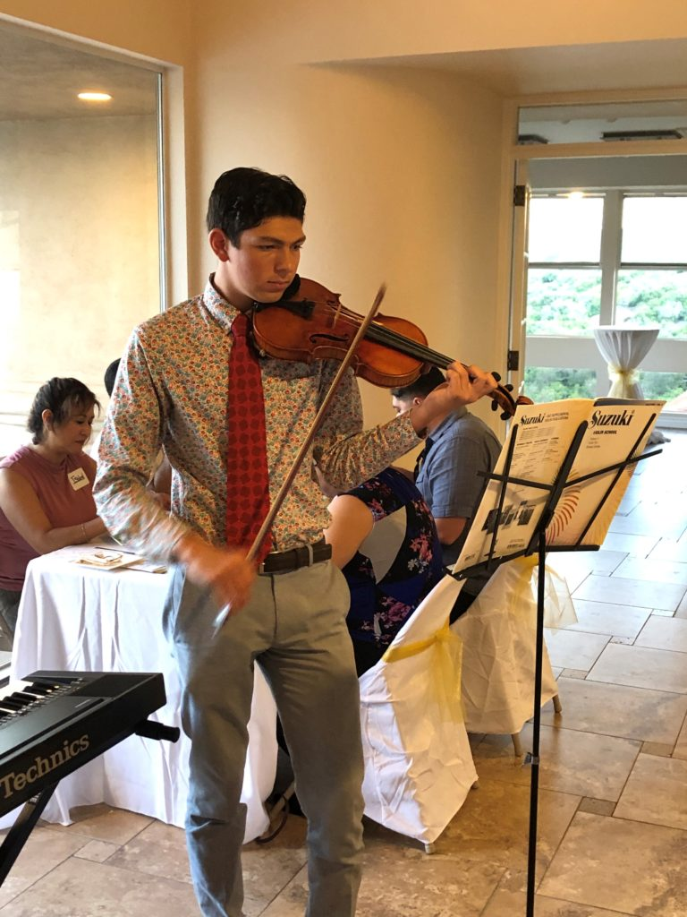 Jude Playing Violin